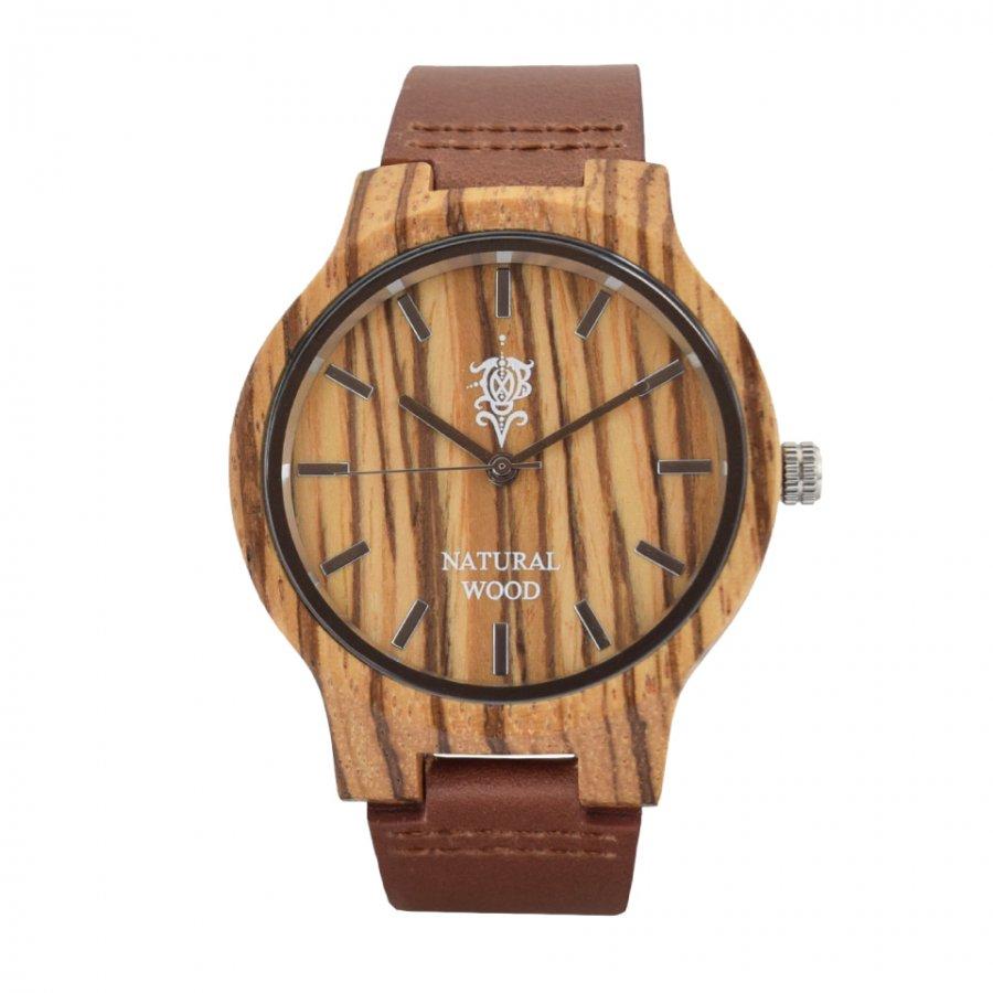 EINBAND Luft Zebrawood レザー木製腕時計 40mm