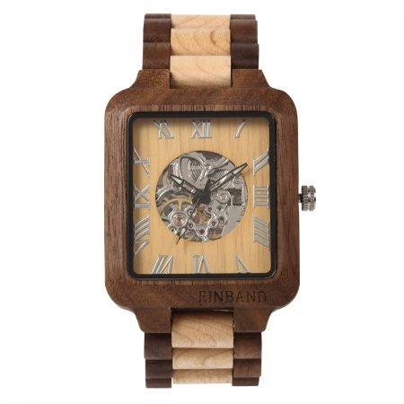 EINBAND Berg  Walnut & Maple 自動巻き木製腕時計