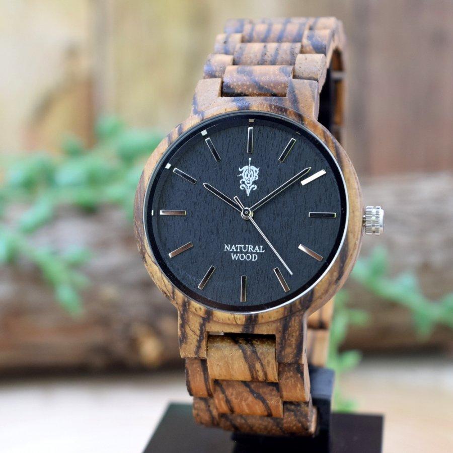 EINBAND Dank  Zebrawood 木製腕時計 40mm