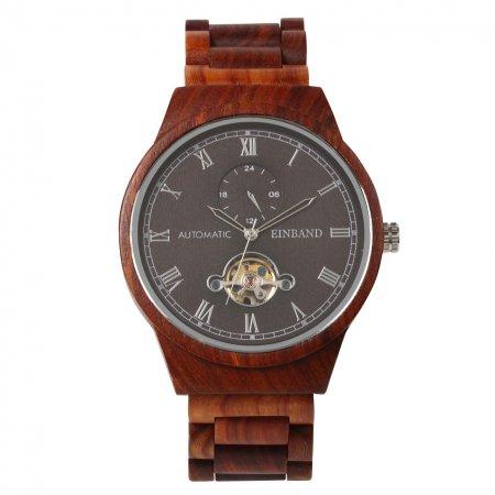 【初回100本限定生産】EINBAND Kaiser Rosewood 自動巻き木製腕時計 46mm