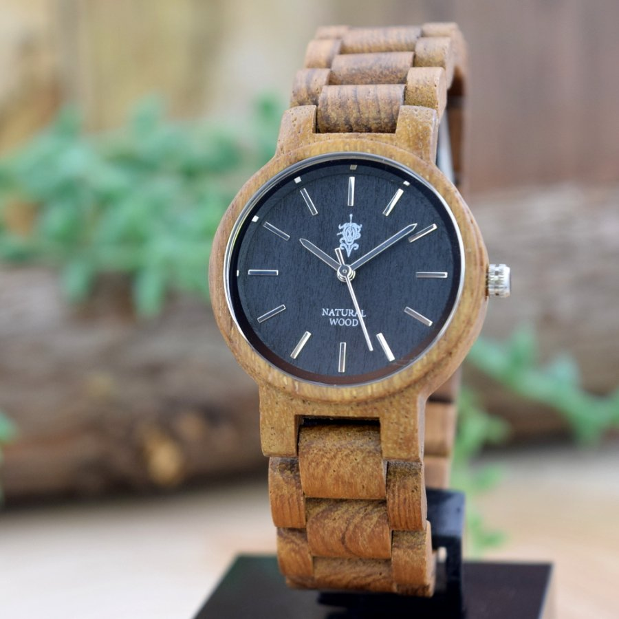 EINBAND Dank Teak 木製腕時計 32mm