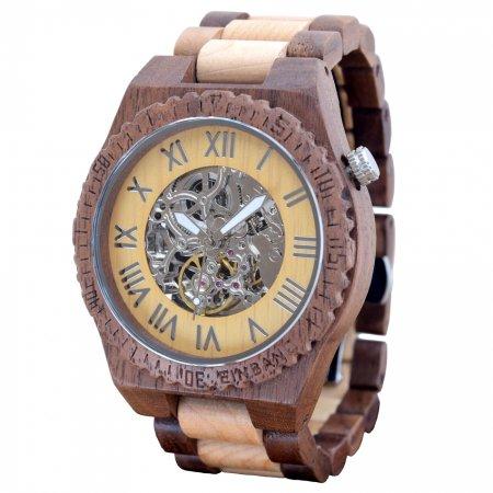 EINBAND Eins Walnut & Maple 46mm 自動巻き木製腕時計【初回100本限定生産】
