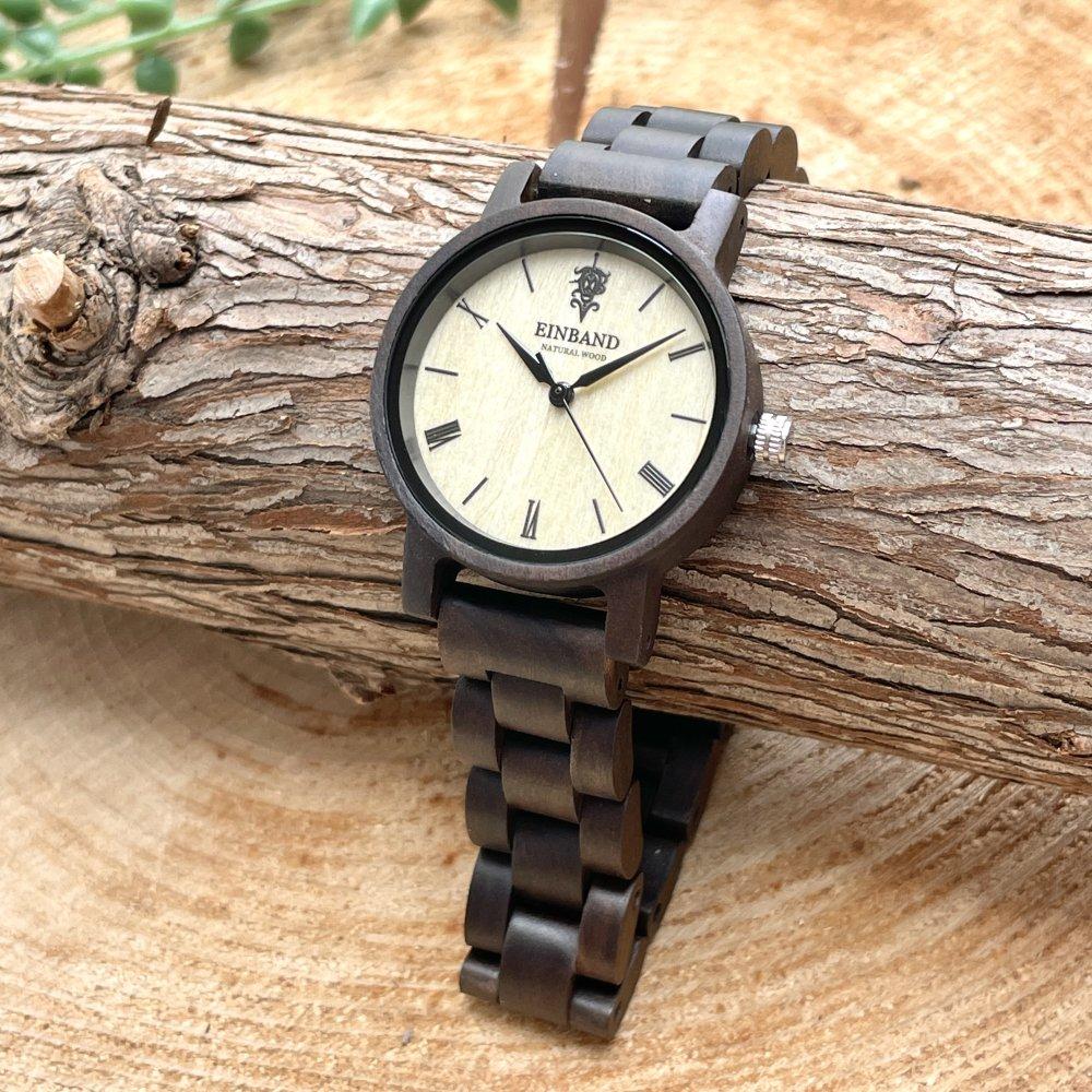 EINBAND Reise Sandalwood 木製腕時計 32mm