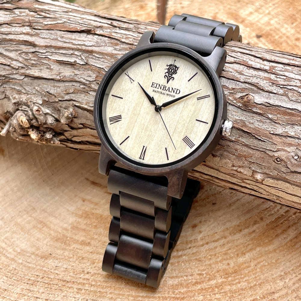 EINBAND Reise Sandalwood 木製腕時計 40mm