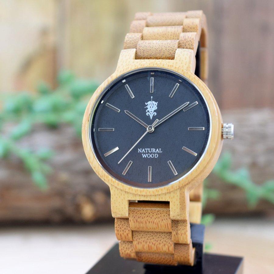 EINBAND Dank Bamboo 木製腕時計 40mm