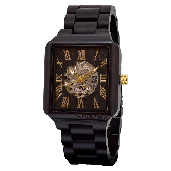 EINBAND Berg  Ebony & Gold 自動巻き木製腕時計
