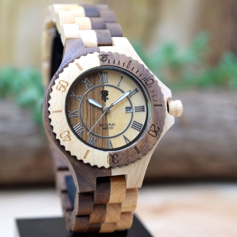 EINBAND Meer Walnut & Maple 木製腕時計 36mm