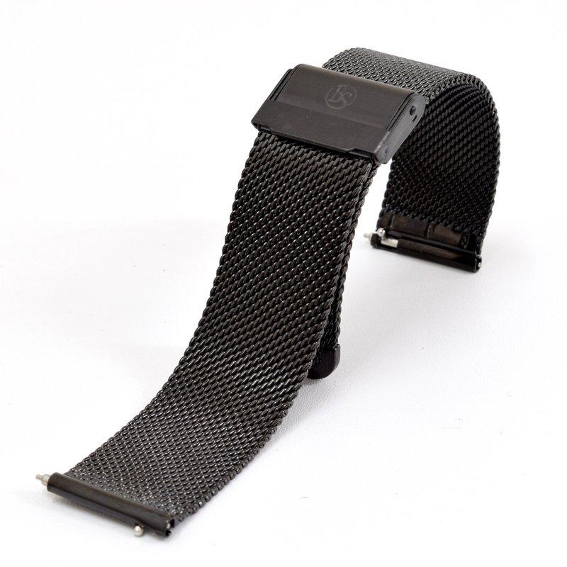 BOND STONE ステンレスメッシュベルト ブラック 20mm(40mmケース専用)