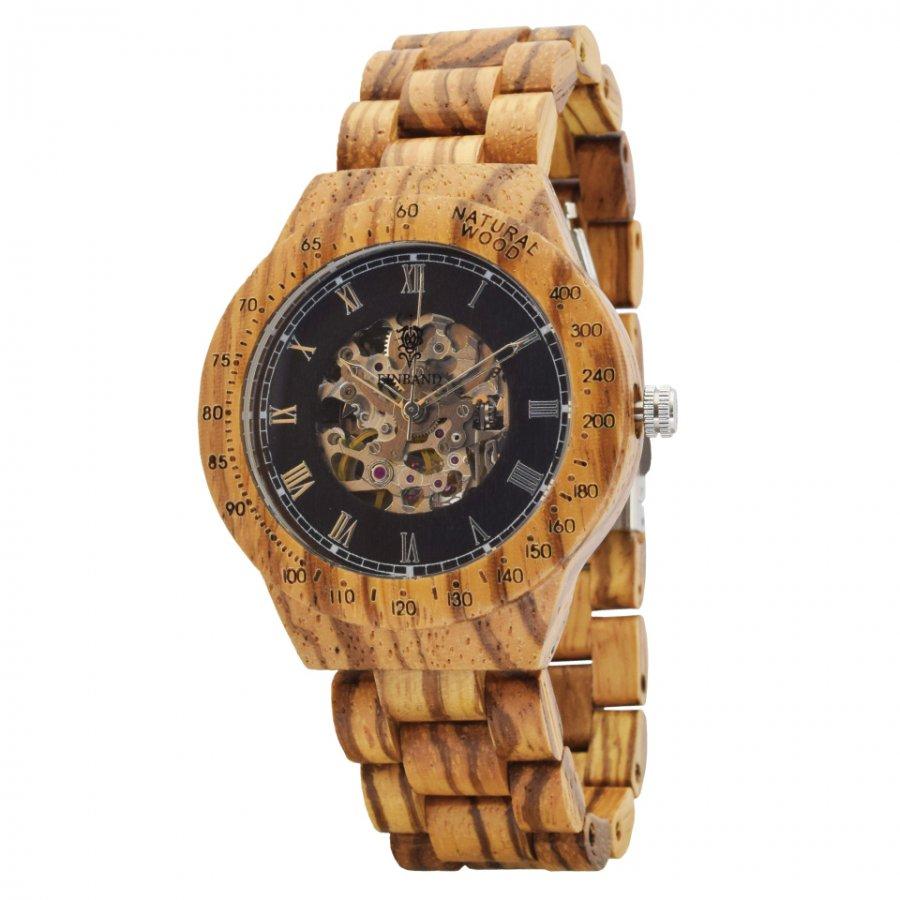 EINBAND Blitz Zebra wood 40mm 自動巻き木製腕時計