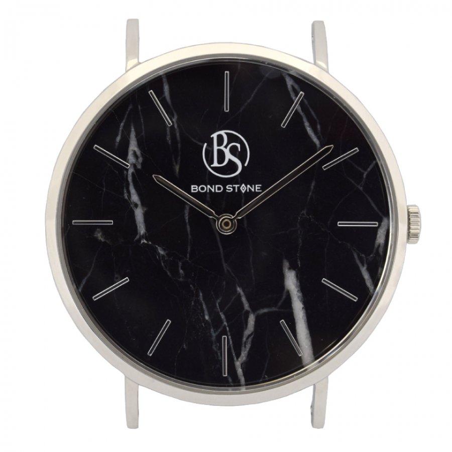 BOND STONE SHINE 天然石腕時計 ブラックマルキーナ 40mm