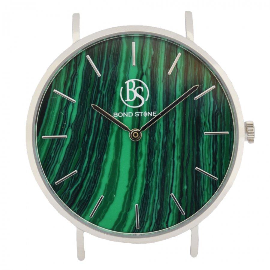 BOND STONE SHINE 天然石腕時計 マラカイト 40mm