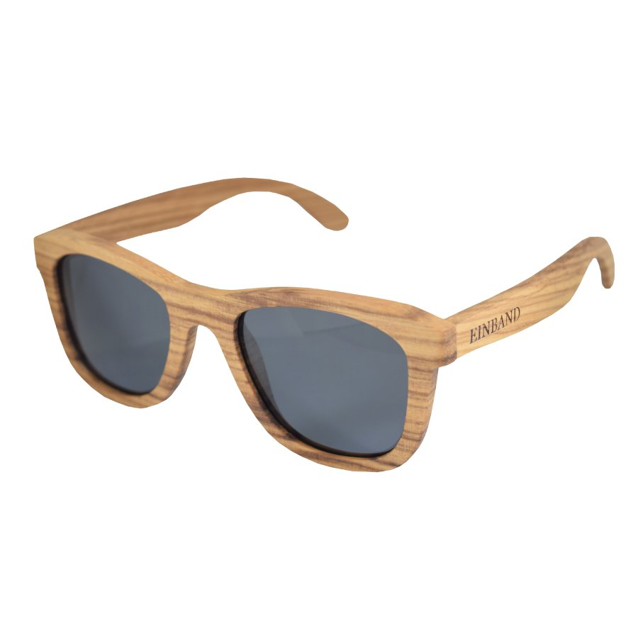 【1/14(月) 22:00〜再販売開始】EINBAND Wood Sunglasses  /  Zebrawood