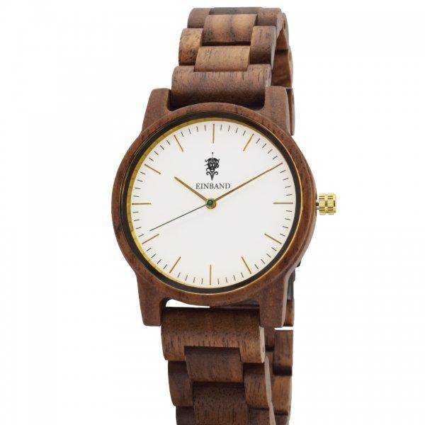 EINBAND Glanz WHITE 木製腕時計 木製ベルト  36mm
