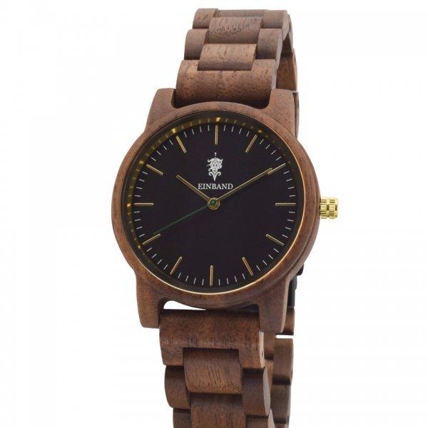 EINBAND Glanz BLACK 木製腕時計 木製ベルト 36mm