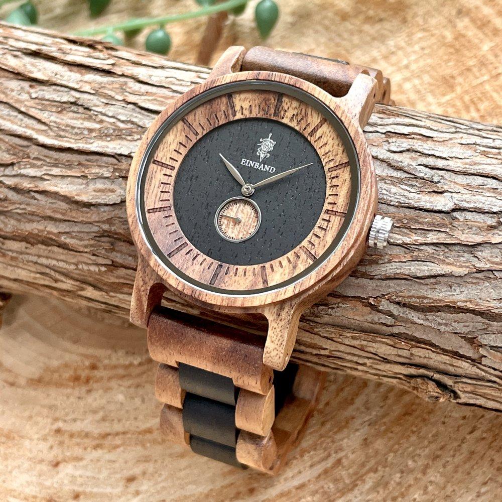 EINBAND Mond Acacia & Ebony 木製腕時計 40mm
