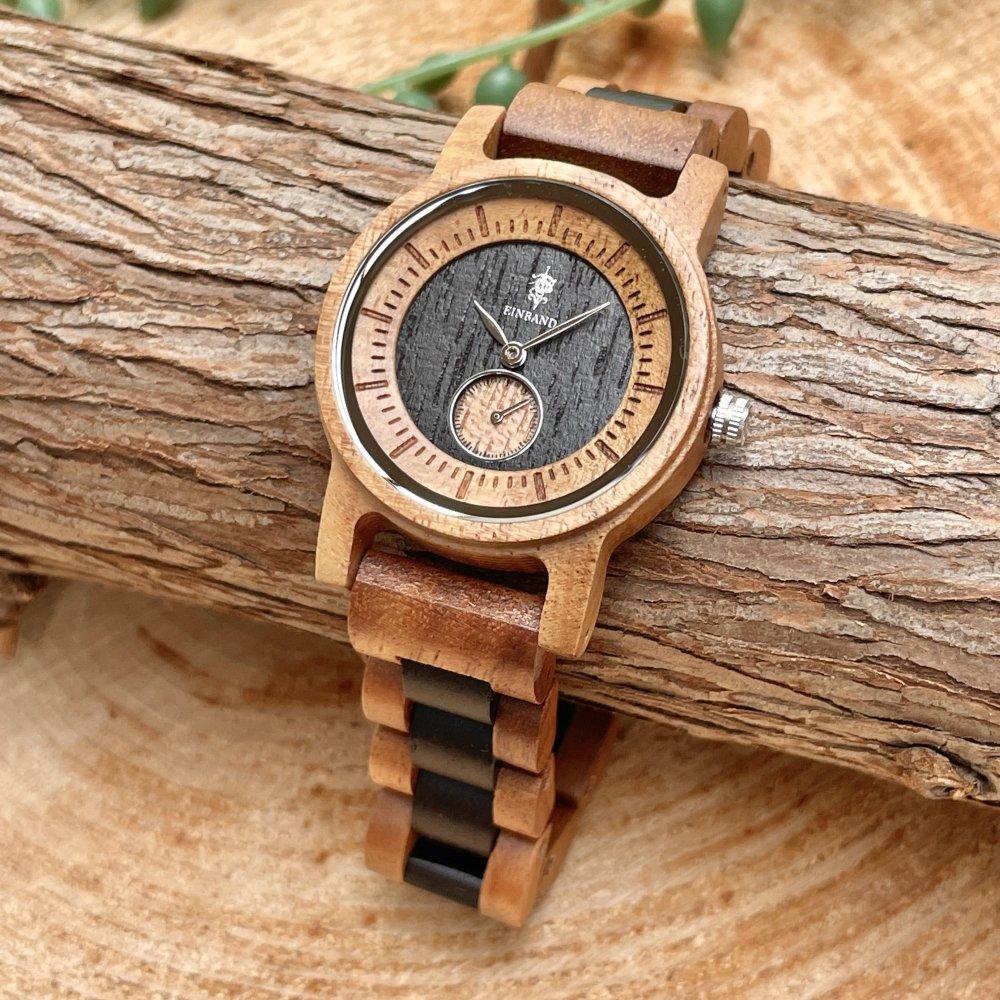EINBAND Mond Acacia & Ebony 木製腕時計 32mm