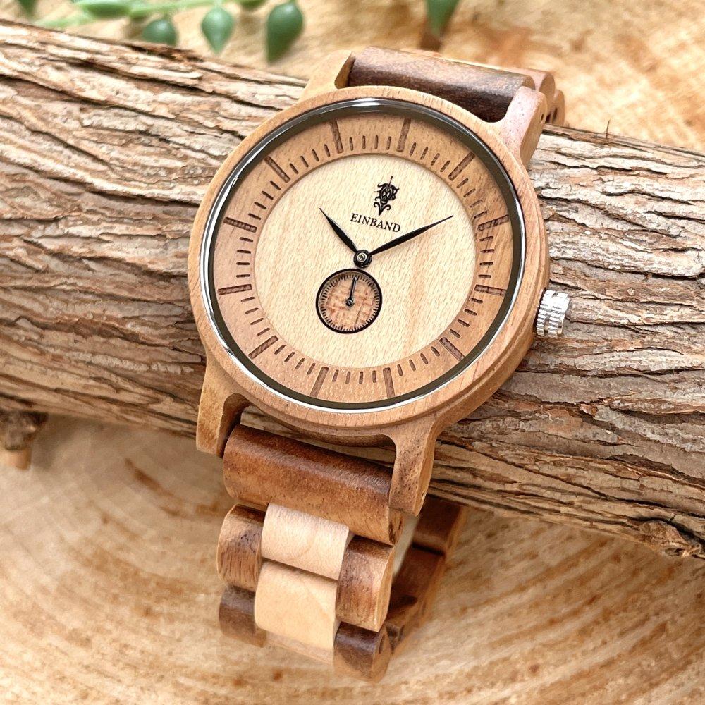 EINBAND Mond Acacia & Maplewood 木製腕時計 40mm
