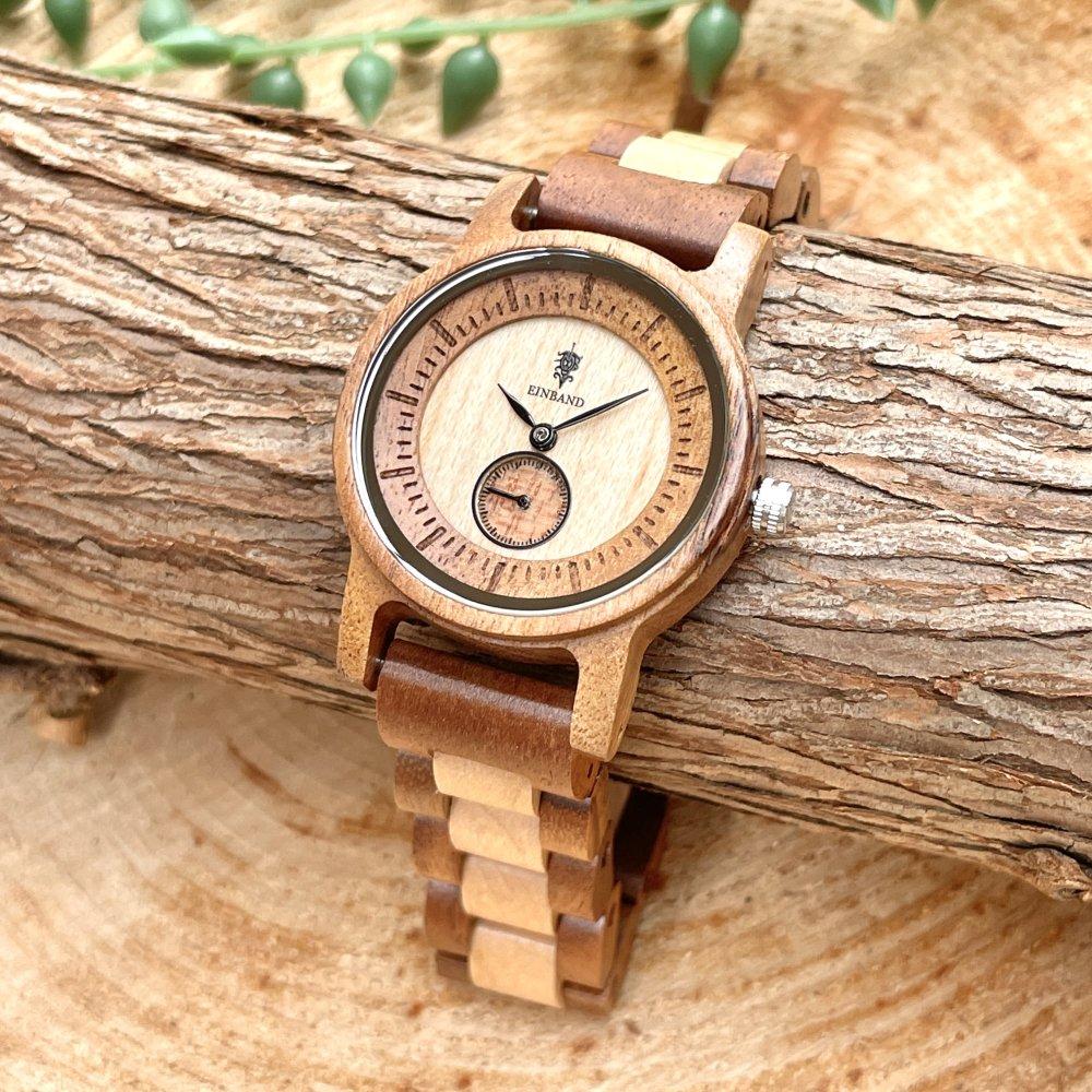 EINBAND Mond Acacia & Maplewood 木製腕時計 32mm