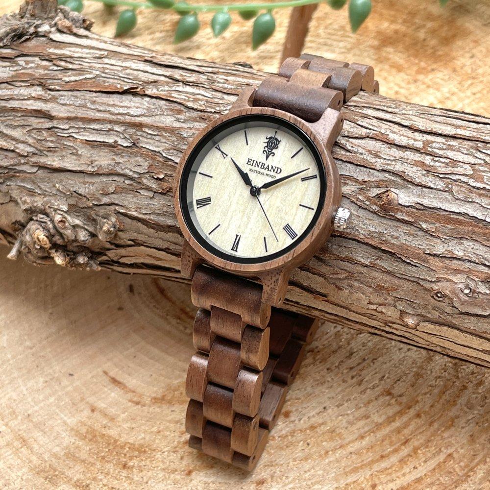 EINBAND Reise Walnut 木製腕時計 32mm
