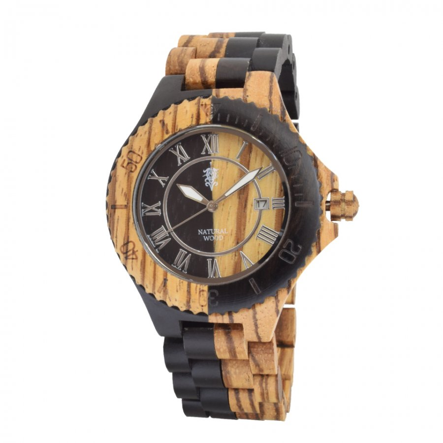 EINBAND Meer Zebra & Ebony 木製腕時計 42mm