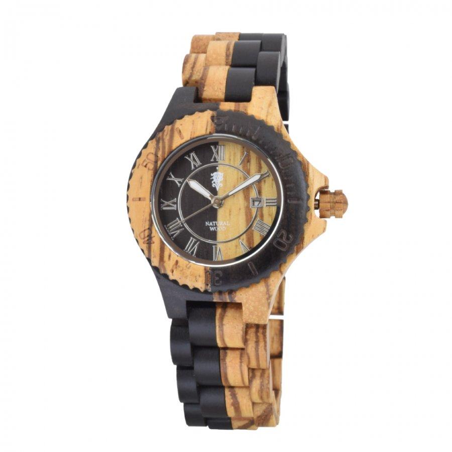 EINBAND Meer Zebra & Ebony 木製腕時計 34mm