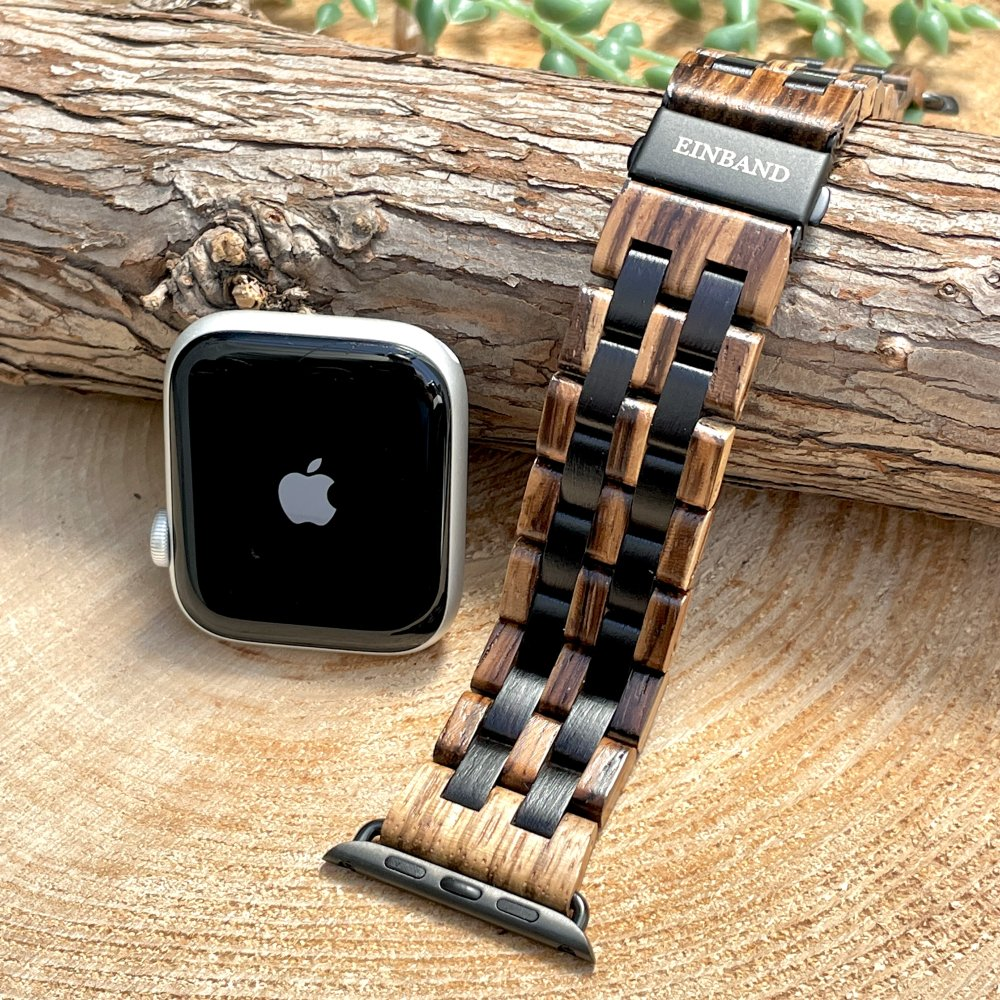 EINBAND AppleWatch 天然木バンド Zebrawood×Ebony