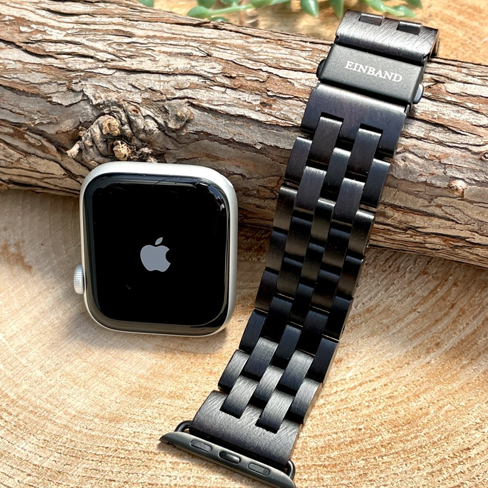 EINBAND AppleWatch 天然木バンド Ebony Wood
