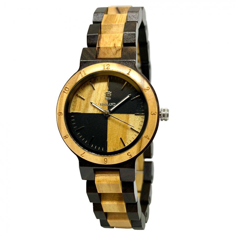 EINBAND Traum Sandalwood & Olive 木製腕時計 32mm