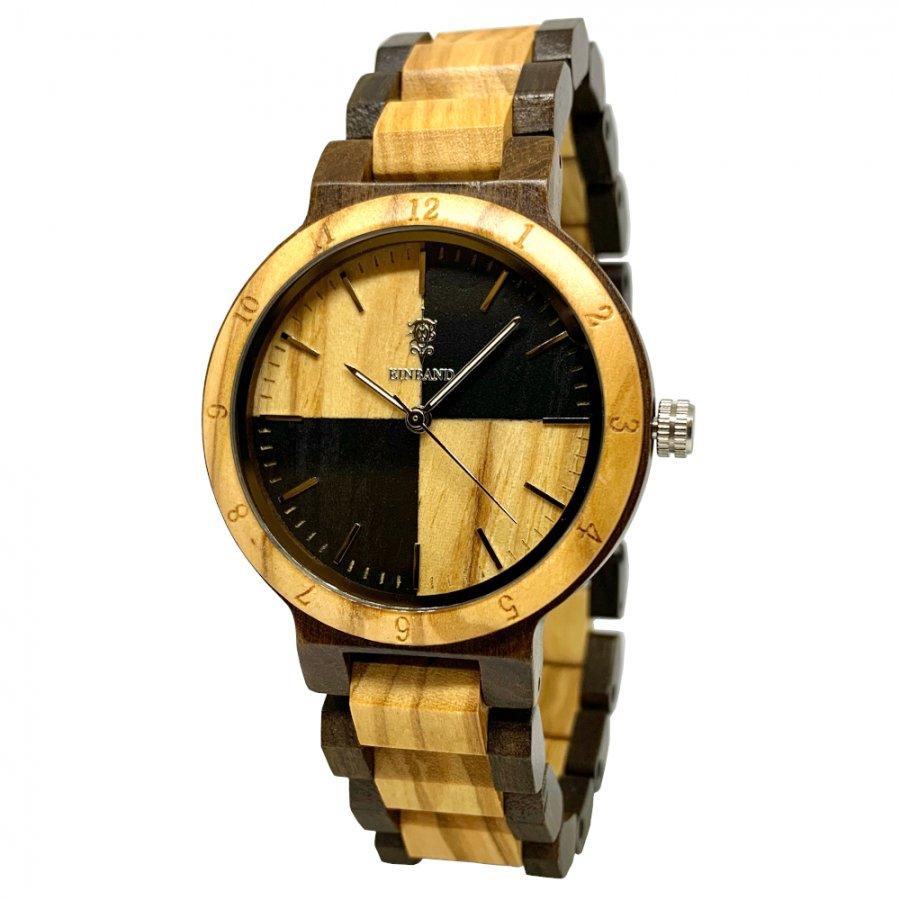 EINBAND Traum Sandalwood & Olive 木製腕時計 40mm