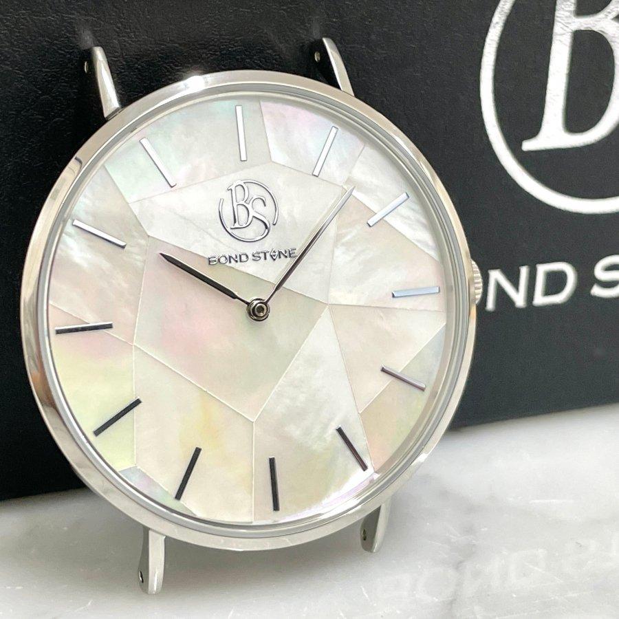【2/23(火) 22:00〜発売開始】BOND STONE SHINE 天然石腕時計 マザーオブパール 40mm