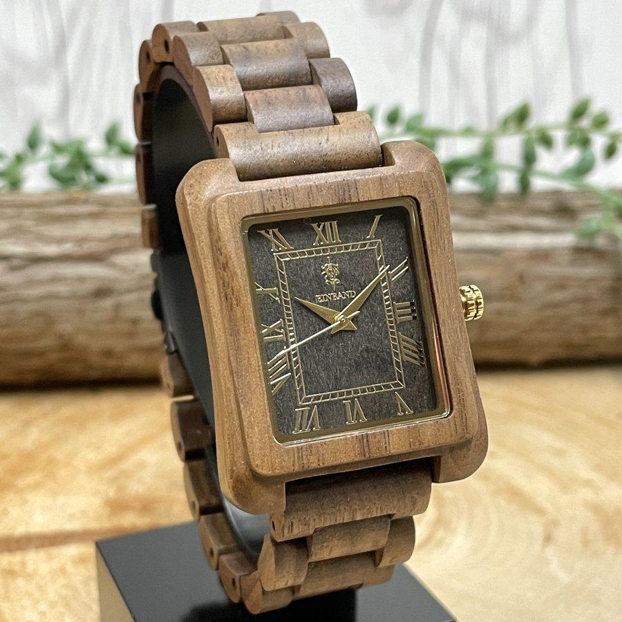 EINBAND Licht Walnut & Sandal Wood 木製腕時計 34mm