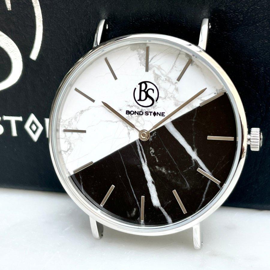 BOND STONE SHINE 天然石腕時計 ツートンダブル大理石 36mm