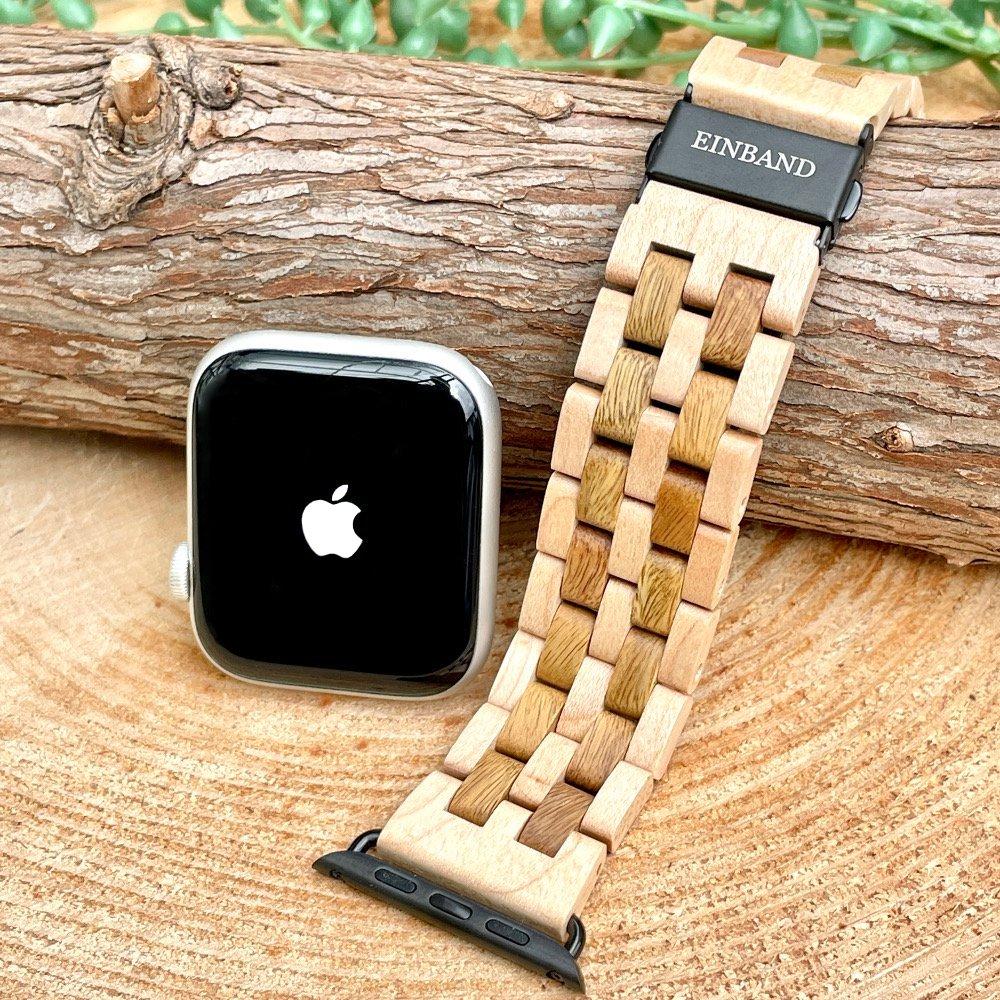 EINBAND AppleWatch 天然木バンド Green sandalwood x Maple wood