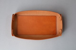 LEATHER TRAY camel -L-