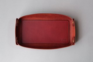 LEATHER TRAY wine -L-