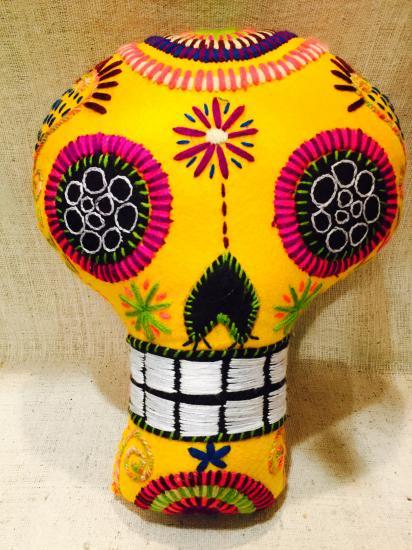 メキシコ・チアパスのアニマリート カラベラ Lサイズ イエロー