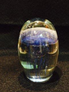蓄光ガラスクラゲの置物E ブルー