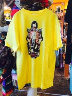 ルチャ・リブレ Tシャツ VAMPIRO XLサイズ 黄色 Marka Libre