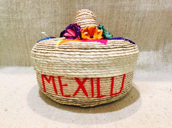 メキシコ トルティーヤボックス ソンブレロ 赤