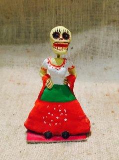 メキシコ 紙粘土カラベラ人形 ボニータ