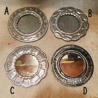 メキシコ・オアハカ オハラタ シンプルモチーフの鏡 小 A-D