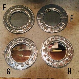 メキシコ・オアハカ オハラタ シンプルモチーフの鏡 小 E-H