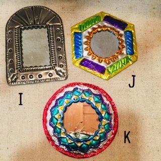 メキシコ・オアハカ オハラタ シンプルモチーフの鏡 小 I-K