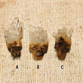 クリスタルスカル 水晶原石削り出し