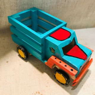メキシコ 木の玩具 トラック アイスグリーン