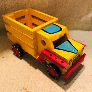 メキシコ 木の玩具 トラック イエロー