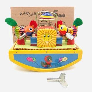 インド ブリキのおもちゃ バードシーソー