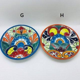 メキシコ グアナファト焼き  プレート G-H 水色 オレンジ