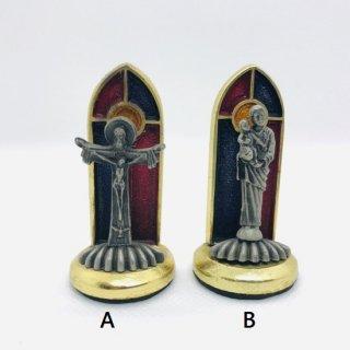 メキシコ キリスト像 ステンドグラス調 ダイキャスト?