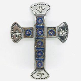 メキシコ・オアハカ オハラタ 十字架の壁掛け タイル A